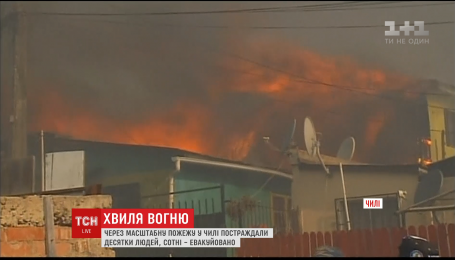 У Чилі оголошено найвищий рівень загрози через пожежу
