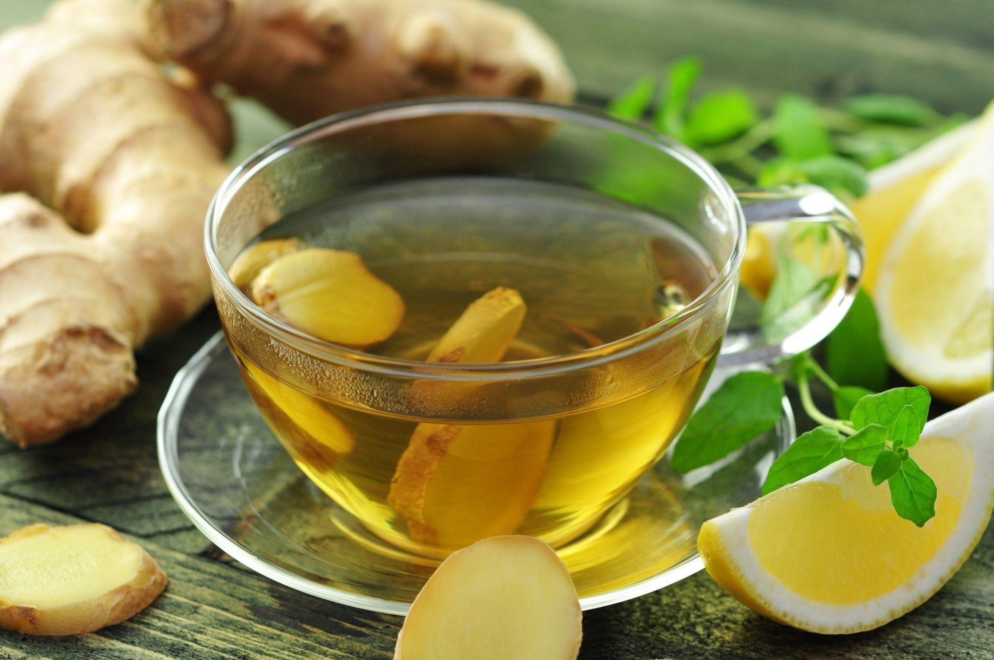 Імбирний чай з лимоном