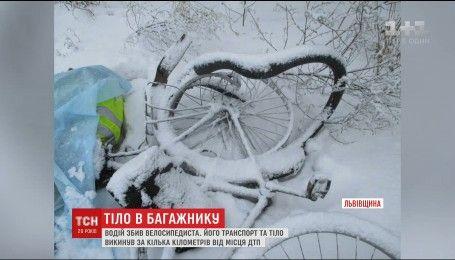 На Львівщині таксист збив велосипедиста: тіло та транспорт загиблого викинув за кілька кілометрів від аварії