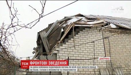 Фронтовые сводки: боевики усиливают обстрелы позиций украинских военных на Востоке