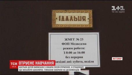 В Житомире санкомиссия ищет источники отравления 14 детей в местной гимназии