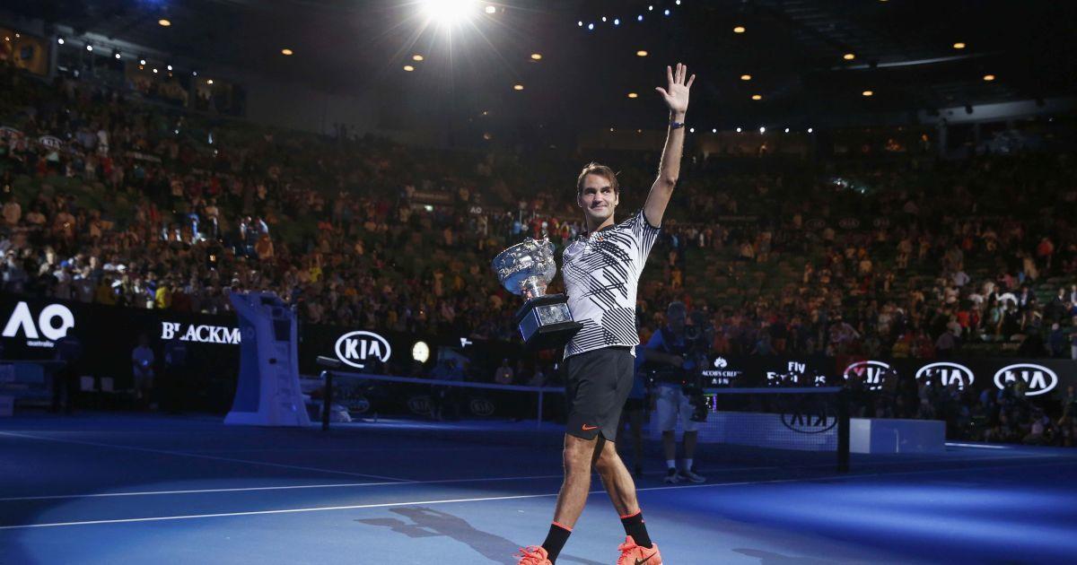 Роджер Федерер 18 трофеїв Великого шолома. @ Reuters