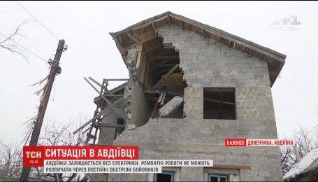 Боевики не прекращают огня по Авдеевке