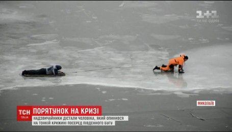 В Николаеве катание мужчины на буере едва не закончилось трагедией