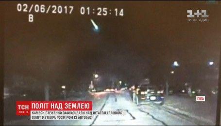 В американском Иллинойсе наблюдали яркий полет метеорита