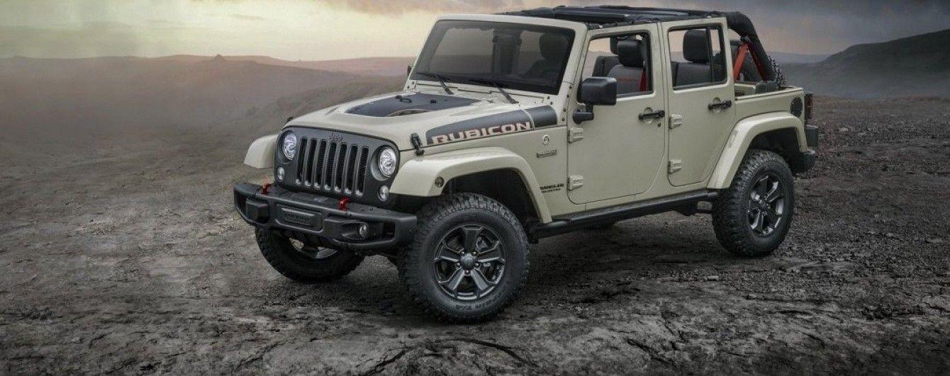 Jeep выпустил особый внедорожник Wrangler Rubicon Recon