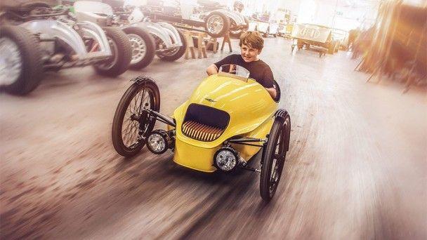 Morgan построил электрический трицикл для детей