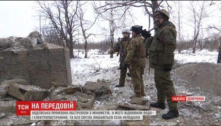Боевики обстреляли из минометов Авдеевскую промзону