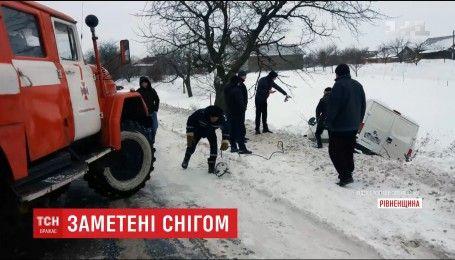 В снежном плену оказались Волынь и Полесье