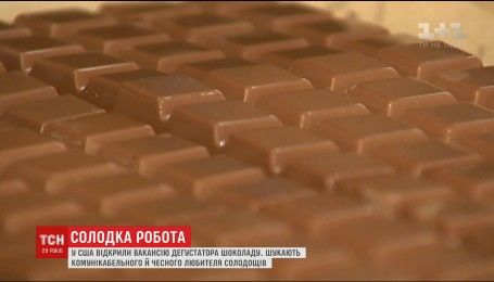 У США одна з кондитерських фабрик запрошує на роботу дегустатора шоколаду