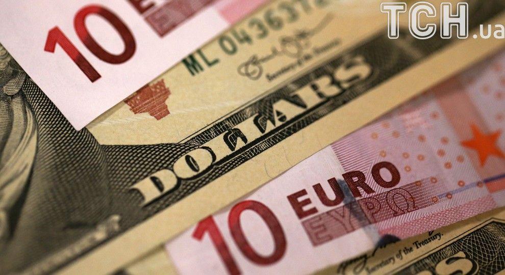 Після вихідного посеред тижня долар і євро здорожчають у курсах Нацбанку. Інфографіка
