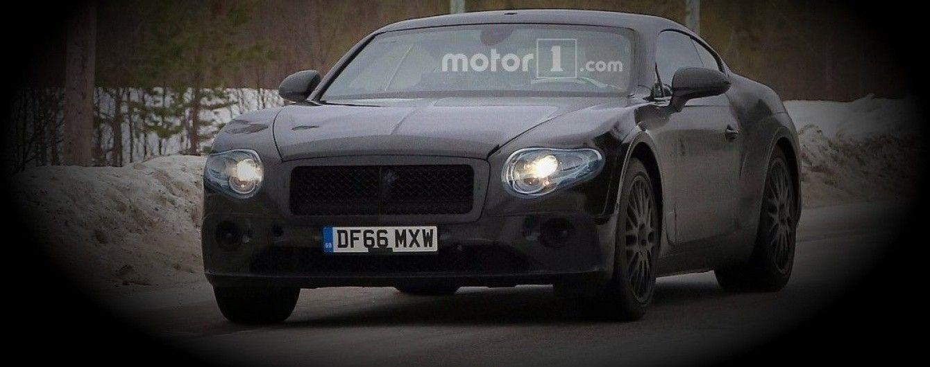 Bentley вывела на тесты Continental GT нового поколения