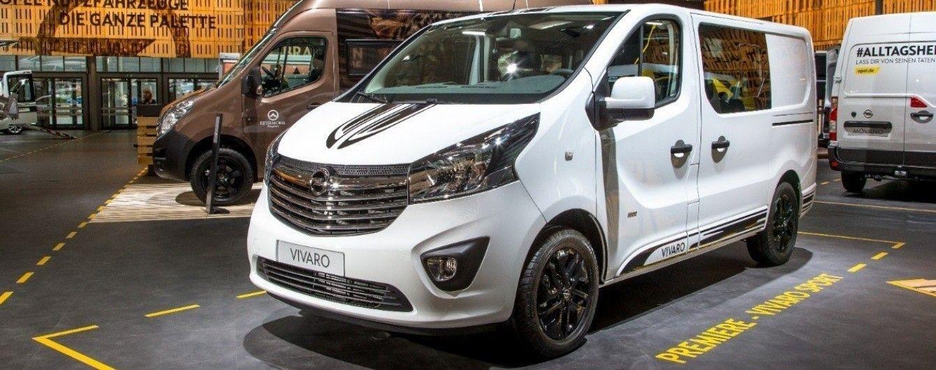 В Украине стартовал прием заказов на Opel Vivaro Sport