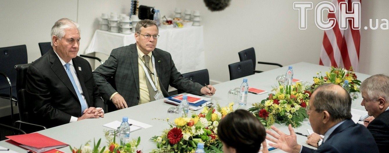 Тіллерсон і Лавров не обговорювали санкції проти РФ через її агресію в Україні