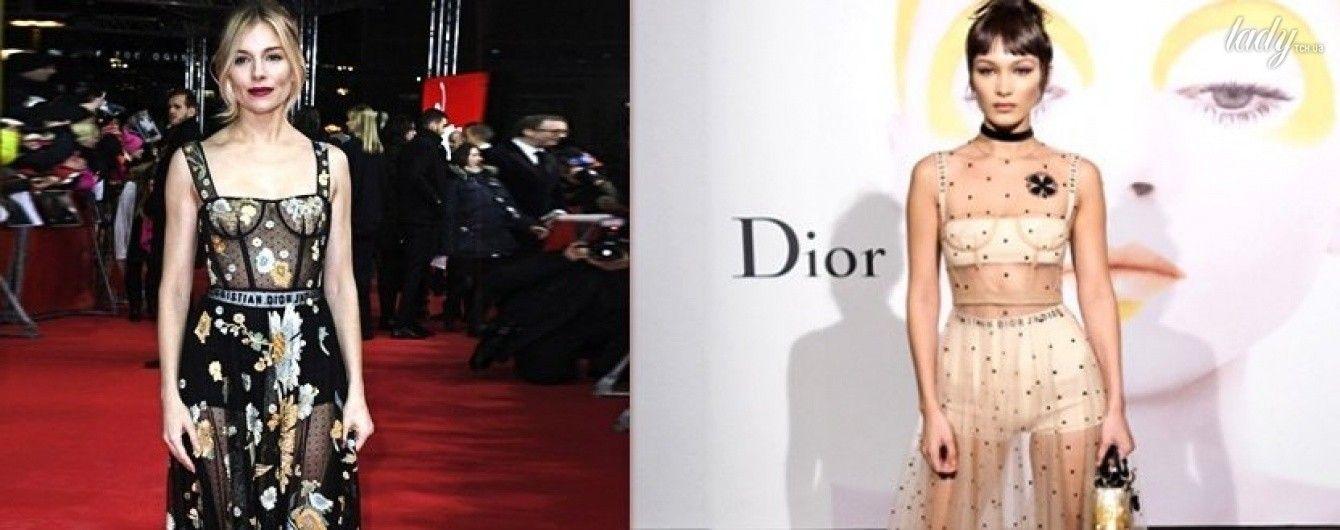 Звезды выбирают Dior: Хадид, Миллер, Крюгер и другие в прозрачных платьях от известного бренда
