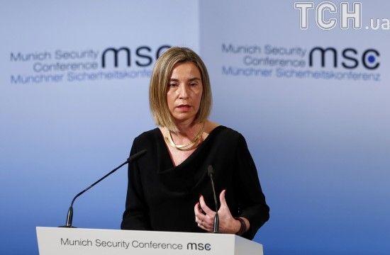 Могеріні назвала позицію Євросоюзу щодо миротворців на Донбасі