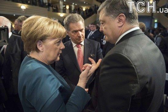 Порошенко і Меркель обговорили вихід росіян із СЦКК та обмін полоненими