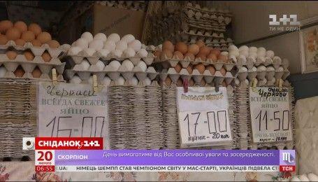 Цена на куриные яйца упала наполовину