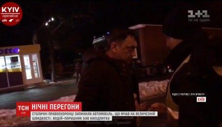 Поліцейські вночі ганялися за п'яним водієм, який прикривався покровителями-високопосадовцями
