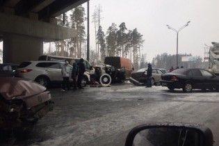 Масштабна ДТП у Підмосков'ї: на шосе зіткнулися 27 авто, є постраждалі