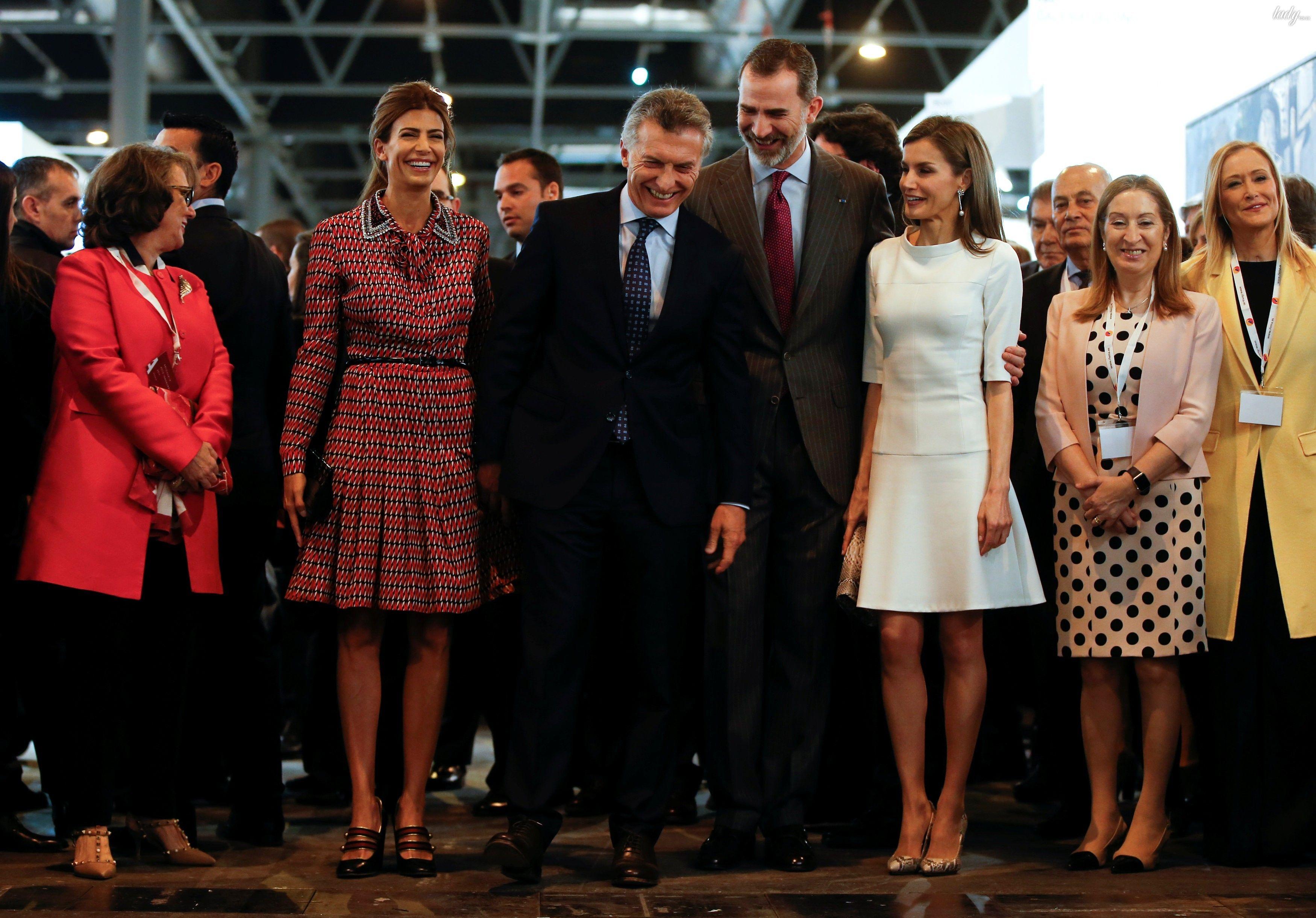 Королева Испании Летиция и первая леди Аргентины Хулиана Авада_4