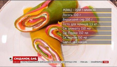 Блины-роллы с начинкой - рецепты Сеничкина