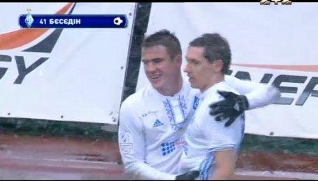 Заря - Динамо - 1:2. Видео гола Беседина