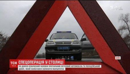 Правоохранители продолжают розыск вооруженного мужчины, который похитил маршрутку