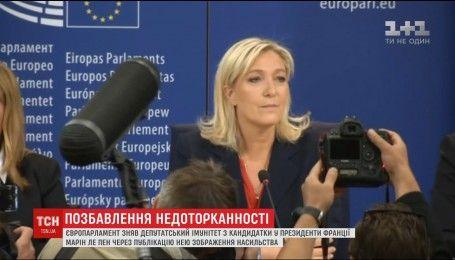 Депутатскую неприкосновенность потеряла лидер французских ультраправых Марин Ле Пен
