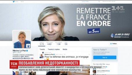 Европарламент лишил депутатской неприкосновенности Марин Ле Пен
