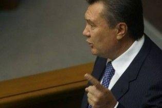 Янукович сподівається, що Росія не зробить різких кроків