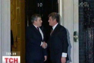 Віктор Ющенко зустрівся з британським прем'єром Гордоном Брауном