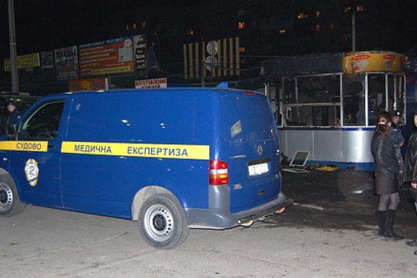 У Дніпропетровську згорів кіоск з шаурмою