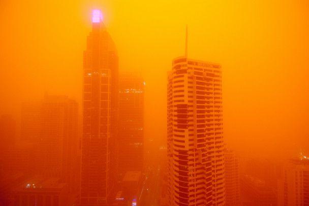 Пилова буря пофарбувала Сідней в помаранчевий колір