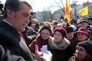 Ющенко погрожує Януковичу закликати українців до непокори