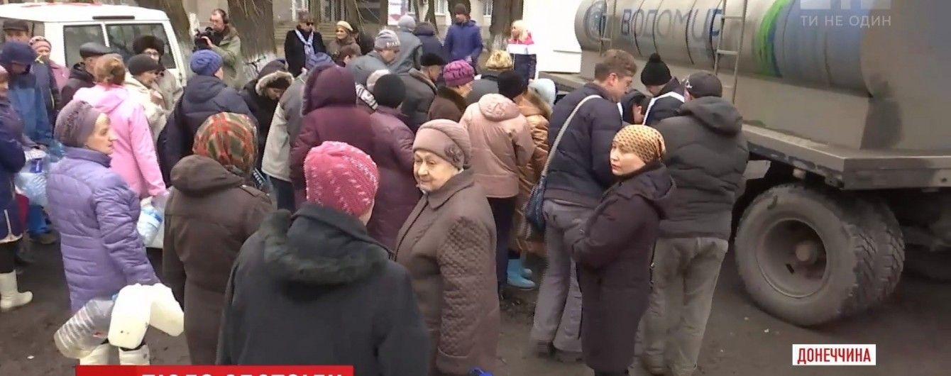 На Донбассе 72 населенных пункта до сих пор остаются без воды