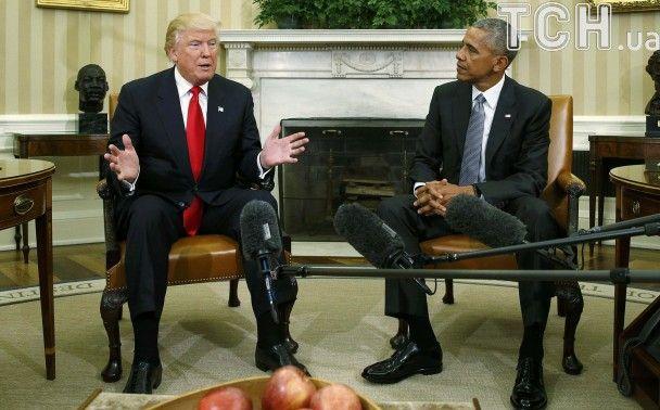 Трамп заявив, що буде радитися з Обамою