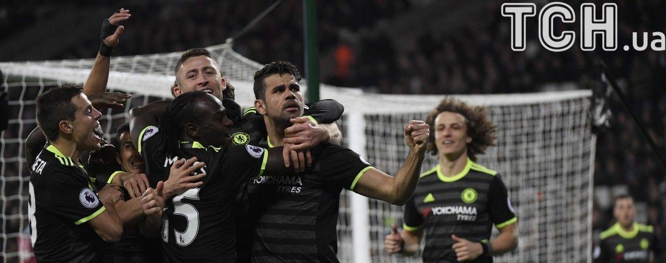 """""""Челси"""" обыграл """"Вест Хэм"""" и укрепил лидерство в турнирной таблице АПЛ"""