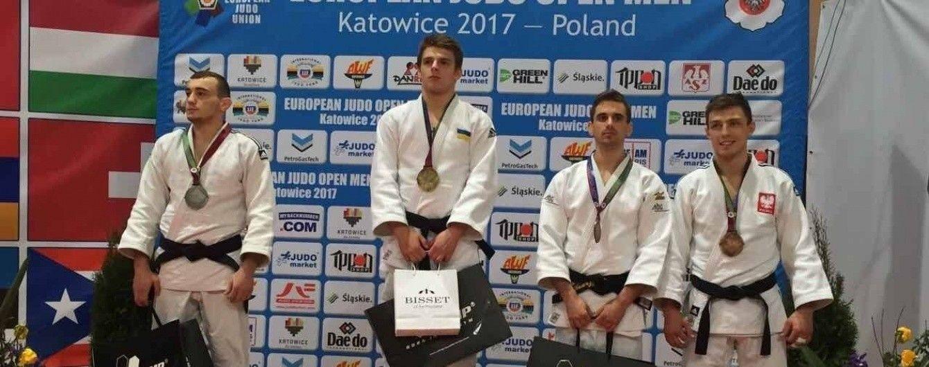 Украинцы завоевали пять медалей на Кубке Европы по дзюдо