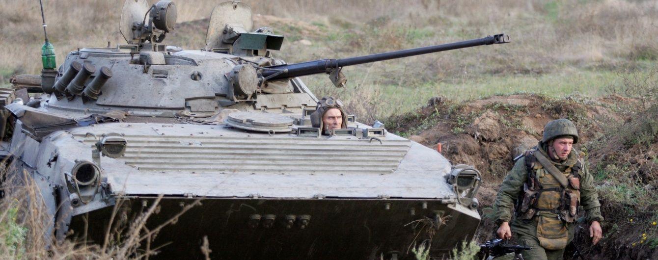 Боевики из танков и БМП обстреляли жилые кварталы Авдеевки и Марьинки