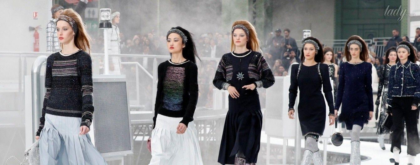 Лотти Мосс, Кара Делевинь и другие звездные гости на показе Chanel в Париже