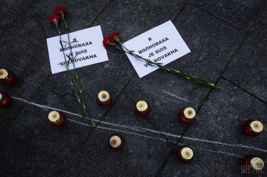 """""""Волновахо, вибач за вбивство"""". В окупованому Докучаєвську розвісили проукраїнські листівки"""