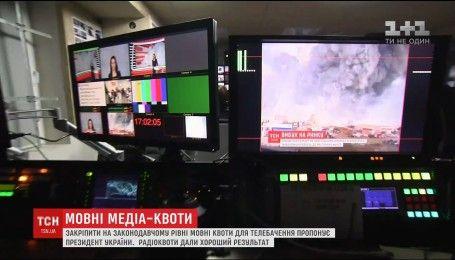 Порошенко пропонує закріпити збільшення частки україномовного продукту на телебаченні