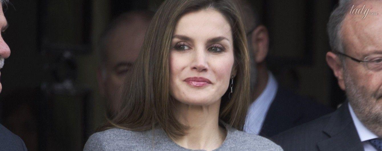 Как всегда, безупречна: королева Летиция вышла в свет в костюме от Carolina Herrera