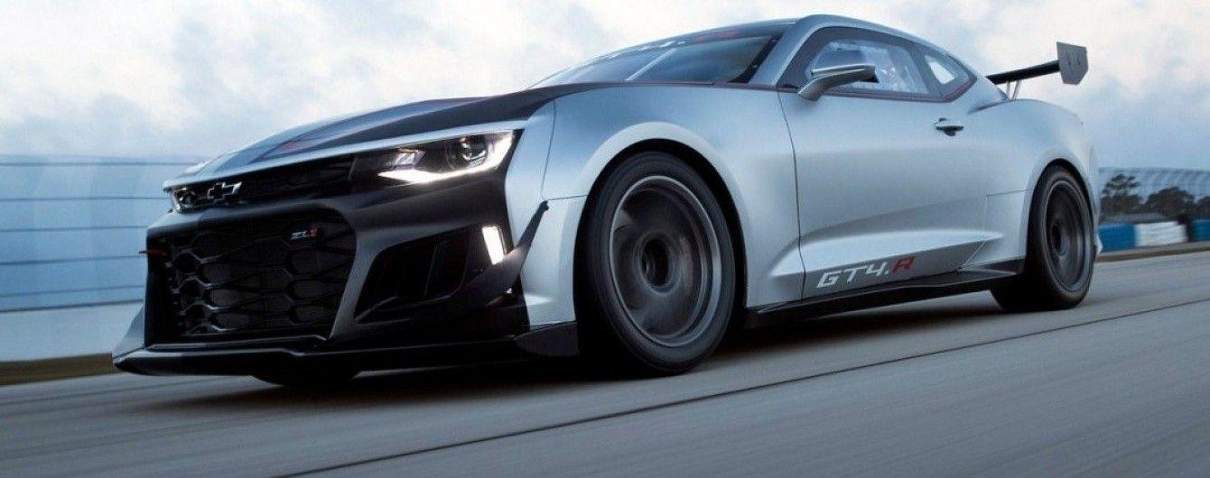 Chevrolet рассекретил гоночное купе Camaro GT4.R