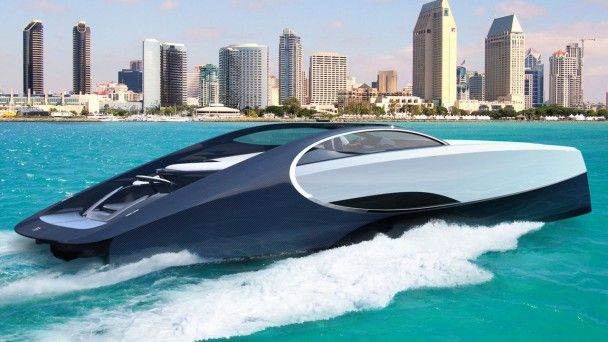 Bugatti построила спортивную яхту в стилистике гиперкара Chiron