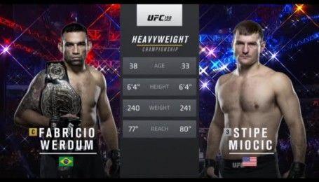 UFC. Стипе Миочич - Фабрисио Вердум. Видео боя