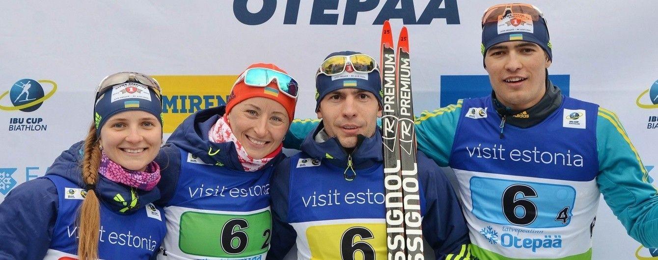 Украина выиграла бронзовую медаль в смешанной эстафете Кубка IBU