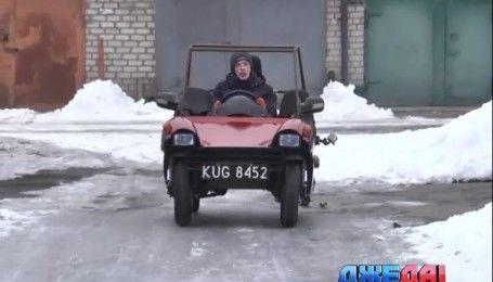 Чудо-авто: в Кривом Роге дедушка и внук собственноручно конструируют уникальную технику
