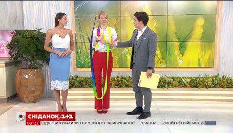 """Художественная гимнастка Анна Ризатдинова показала мастер-класс в студии """"Сніданку"""""""